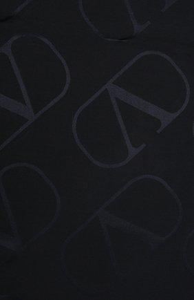 Женская шаль из шелка и шерсти  VALENTINO темно-серого цвета, арт. WW2EB104/AJB | Фото 2