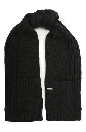 Женский кашемировый шарф MOORER темно-серого цвета, арт. SCARFP0CKET-CWS/M0DSC100003-TEPA177 | Фото 1