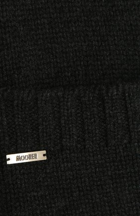 Женский кашемировый шарф MOORER темно-серого цвета, арт. SCARFP0CKET-CWS/M0DSC100003-TEPA177 | Фото 2