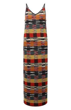 Женское шерстяное платье PALM ANGELS разноцветного цвета, арт. PWHI001F21KNI0018484   Фото 1