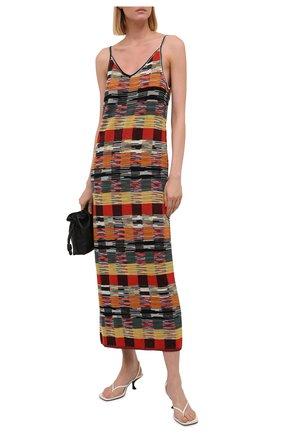 Женское шерстяное платье PALM ANGELS разноцветного цвета, арт. PWHI001F21KNI0018484   Фото 2