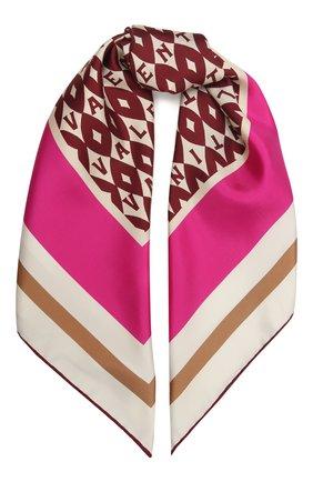 Женский шелковый платок VALENTINO фуксия цвета, арт. WW2EI114/UKA | Фото 1