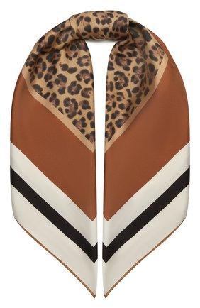 Женский шелковый платок VALENTINO коричневого цвета, арт. WW2EI114/SFT | Фото 1