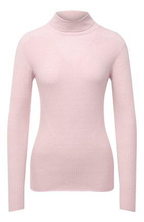 Женская шерстяная водолазка GIORGIO ARMANI светло-розового цвета, арт. 6KAMA4/AMA5Z   Фото 1