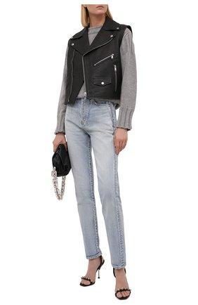 Женский кожаный жилет MICHAEL MICHAEL KORS черного цвета, арт. MU1202CFAM | Фото 2