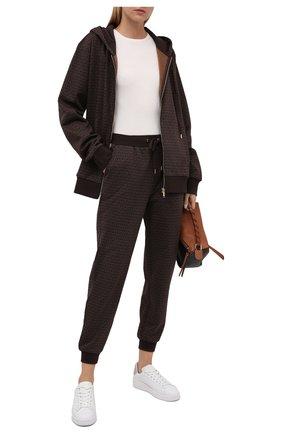 Женские хлопковые джоггеры MICHAEL MICHAEL KORS коричневого цвета, арт. MS1305138G | Фото 2