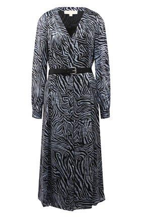 Женское платье из смеси шелка и вискозы MICHAEL MICHAEL KORS тёмно-голубого цвета, арт. MU18Y4626J | Фото 1