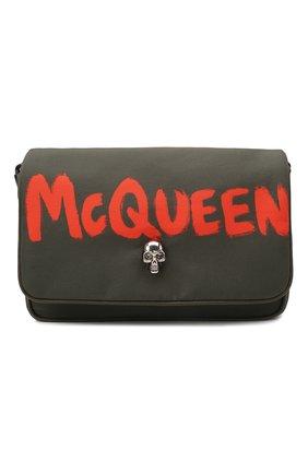 Женская сумка skull small ALEXANDER MCQUEEN хаки цвета, арт. 666120/16XAE | Фото 1