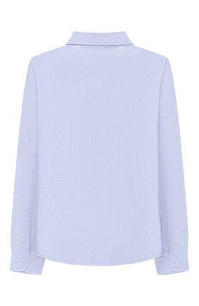 Детская хлопковая рубашка DAL LAGO голубого цвета, арт. N405/2206/4-6   Фото 2