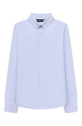 Детская хлопковая рубашка DAL LAGO голубого цвета, арт. N405/2206/13-16 | Фото 1