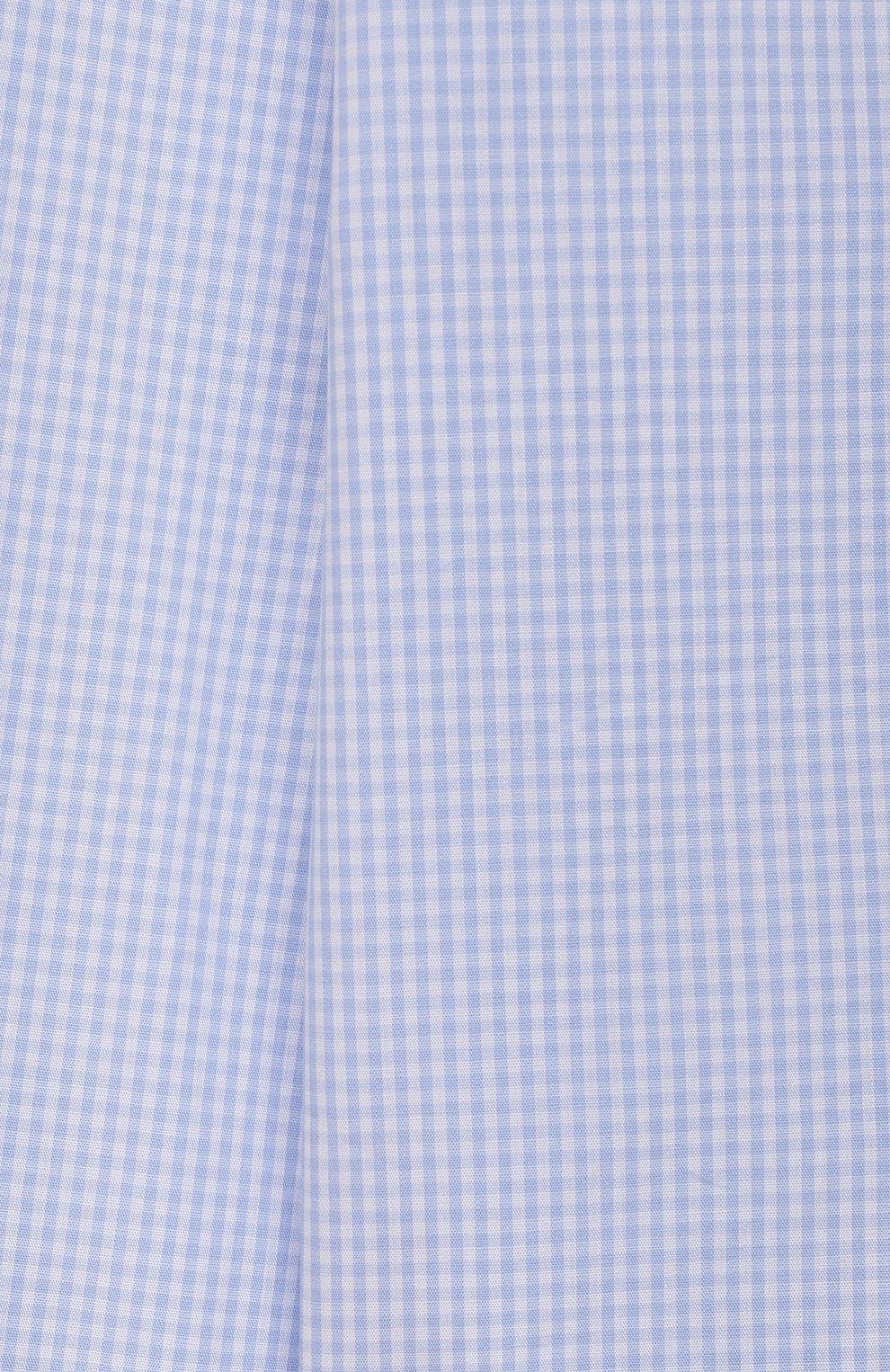 Детская хлопковая рубашка DAL LAGO голубого цвета, арт. N405/2206/13-16   Фото 3 (Рукава: Длинные; Материал внешний: Хлопок; Стили: Классический; Ростовка одежда: 13 - 15 лет   158 см, 16 лет   164 см)