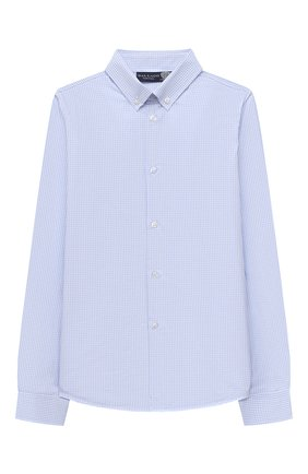 Детская хлопковая рубашка DAL LAGO голубого цвета, арт. N405/1165/7-12 | Фото 1