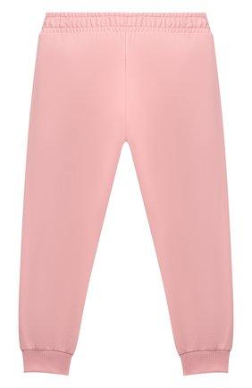 Детские хлопковые джоггеры MOSCHINO розового цвета, арт. HPP02Y/LDA26/4A-8A   Фото 2