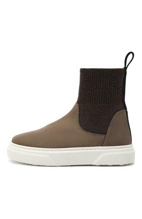Детские кожаные ботинки MONTELPARE TRADITION коричневого цвета, арт. MT18301/M0RBID0NE/T0MAIA/M0NT0NE/28-35 | Фото 2