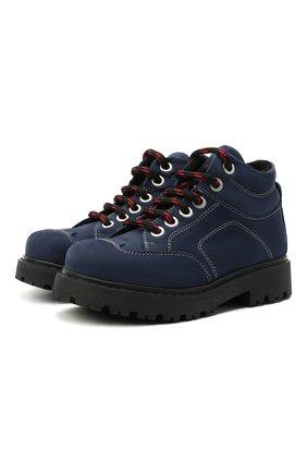 Детские кожаные ботинки MONTELPARE TRADITION синего цвета, арт. MT19207/M0RBID0NE/18-27 | Фото 1