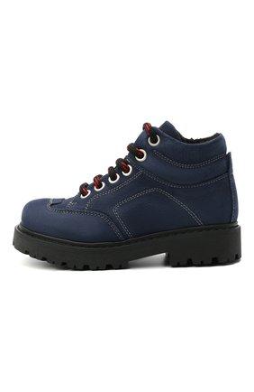 Детские кожаные ботинки MONTELPARE TRADITION синего цвета, арт. MT19207/M0RBID0NE/18-27 | Фото 2