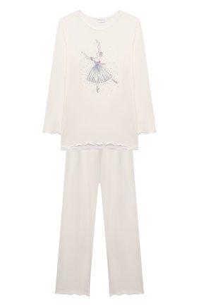 Детская пижама LA PERLA кремвого цвета, арт. 55021/2A-6A   Фото 1