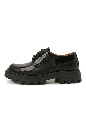 Детские кожаные туфли GALLUCCI черного цвета, арт. J20231AM/SC P V G0M MAI/VER | Фото 2 (Материал внутренний: Натуральная кожа)