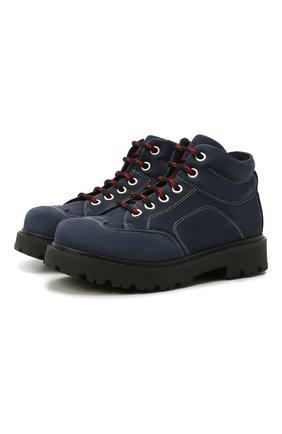 Детские кожаные ботинки MONTELPARE TRADITION синего цвета, арт. MT19207/M0RBID0NE/28-35 | Фото 1