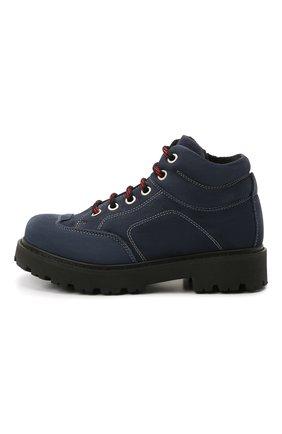 Детские кожаные ботинки MONTELPARE TRADITION синего цвета, арт. MT19207/M0RBID0NE/28-35 | Фото 2