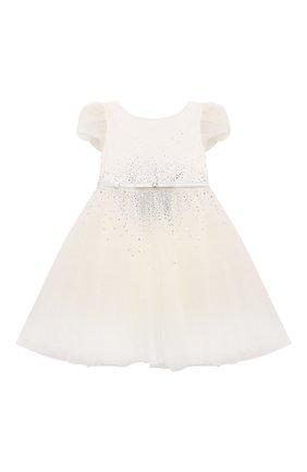 Детское платье MONNALISA белого цвета, арт. 778903   Фото 1