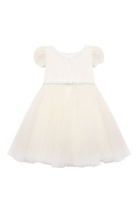 Детское платье MONNALISA белого цвета, арт. 778903   Фото 2