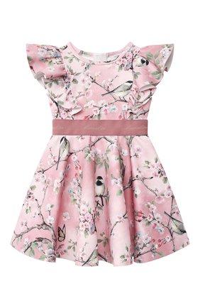 Детское платье MONNALISA розового цвета, арт. RU8908 | Фото 1