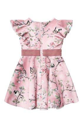 Детское платье MONNALISA розового цвета, арт. RU8908 | Фото 2