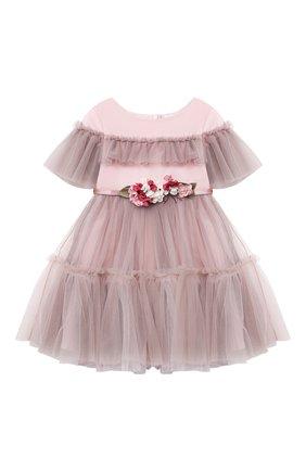 Детское платье MONNALISA розового цвета, арт. 118902   Фото 1