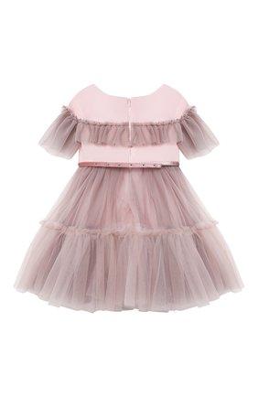 Детское платье MONNALISA розового цвета, арт. 118902   Фото 2