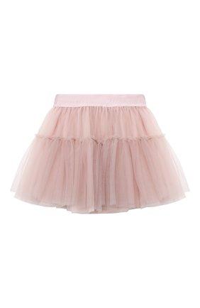 Детская юбка MONNALISA розового цвета, арт. 178GON | Фото 2