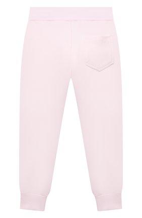 Детские хлопковые джоггеры MONNALISA розового цвета, арт. 198403S1 | Фото 2 (Материал внешний: Хлопок; Девочки Кросс-КТ: Брюки-одежда; Ростовка одежда: 2 года | 92 см, 3 года | 98 см, 4 года | 104 см, 5 лет | 110 см, 6 лет | 116 см, 7 лет | 122 см, 8 лет | 128 см)