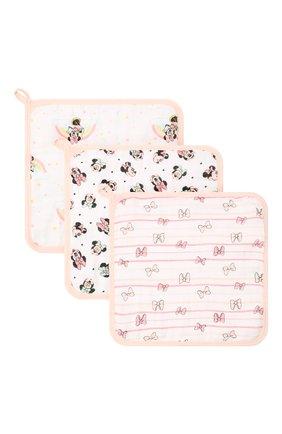Детского комплект из трех полотенец ADEN+ANAIS розового цвета, арт. EWCC30005DIB | Фото 1