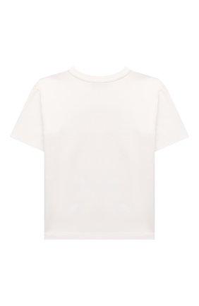 Детская хлопковая футболка MOSCHINO белого цвета, арт. HXM02X/LBA12/4A-8A | Фото 2