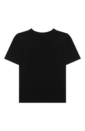 Детская хлопковая футболка MOSCHINO черного цвета, арт. HXM02X/LBA12/4A-8A | Фото 2