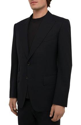 Мужской шерстяной костюм TOM FORD темно-синего цвета, арт. Q22R13/21AL43 | Фото 2