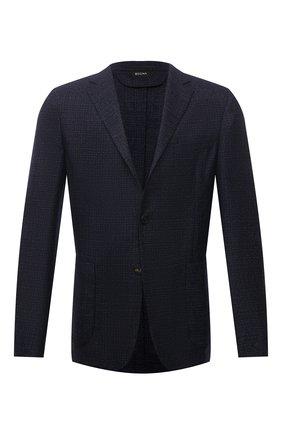 Мужской шерстяной пиджак Z ZEGNA синего цвета, арт. 254773/1D7SG0 | Фото 1