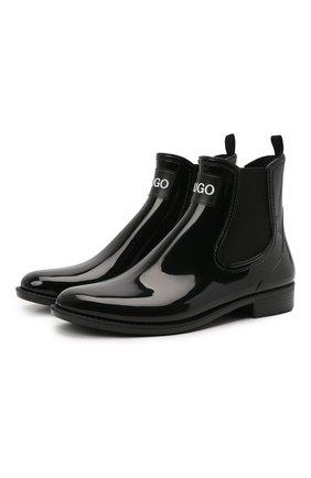 Женские ботинки HUGO черного цвета, арт. 50419674 | Фото 1