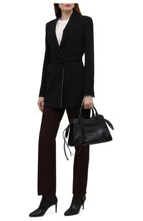 Женские кожаные ботильоны stirrup reida RALPH LAUREN черного цвета, арт. 800850200 | Фото 2 (Материал внутренний: Натуральная кожа; Подошва: Плоская; Каблук высота: Высокий; Каблук тип: Шпилька)