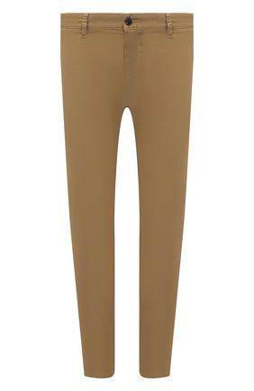 Мужские хлопковые брюки BOSS бежевого цвета, арт. 50442037   Фото 1 (Материал внешний: Хлопок; Длина (брюки, джинсы): Стандартные; Случай: Повседневный; Силуэт М (брюки): Чиносы; Стили: Кэжуэл)
