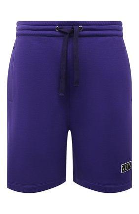 Мужские хлопковые шорты VALENTINO фиолетового цвета, арт. WV3MD02D7FH | Фото 1