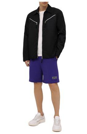Мужские хлопковые шорты VALENTINO фиолетового цвета, арт. WV3MD02D7FH | Фото 2