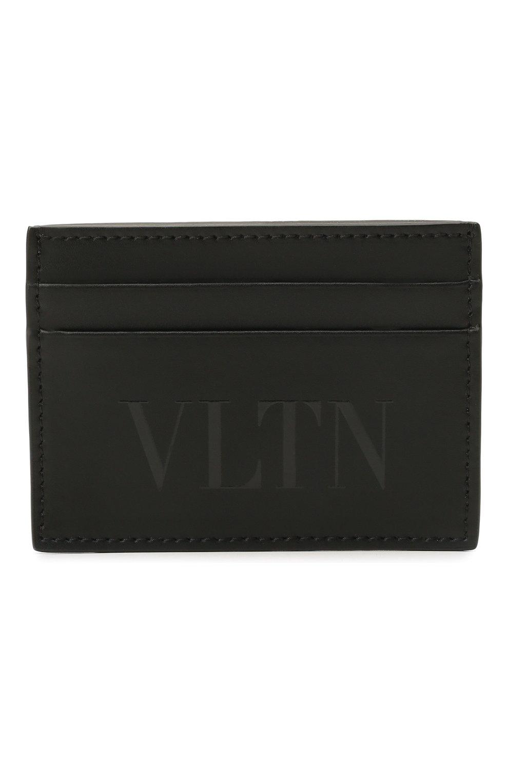 Мужской кожаный футляр для кредитных карт VALENTINO черного цвета, арт. WY2P0448/VNA   Фото 1