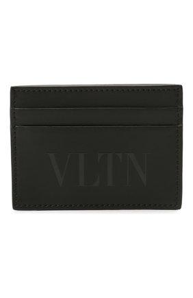 Мужской кожаный футляр для кредитных карт VALENTINO черного цвета, арт. WY2P0448/VNA | Фото 1