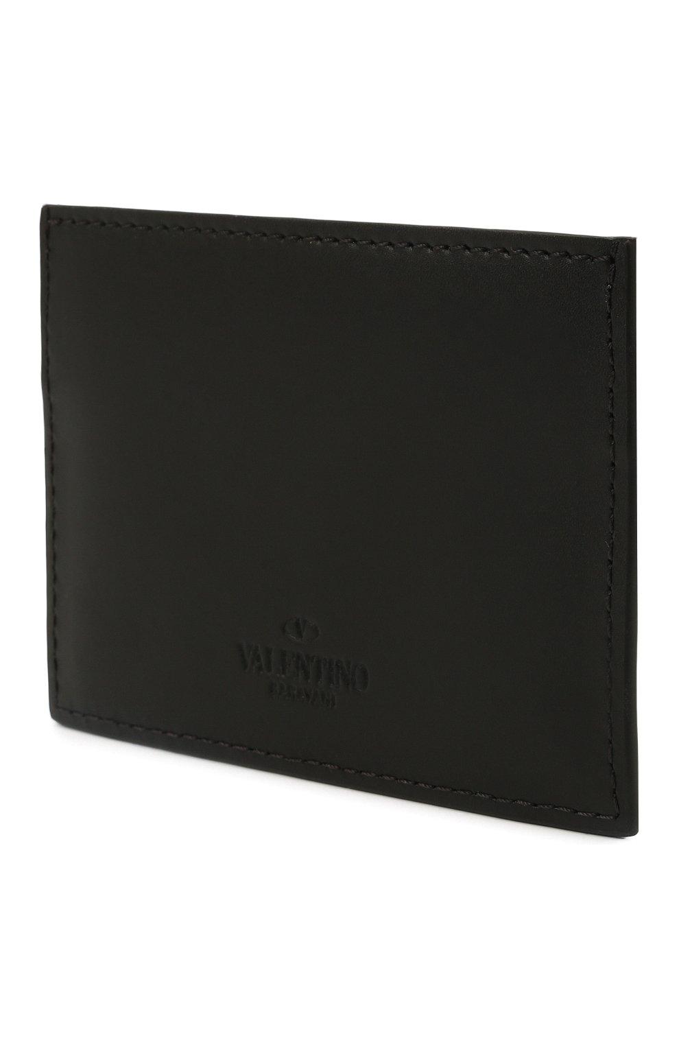 Мужской кожаный футляр для кредитных карт VALENTINO черного цвета, арт. WY2P0448/VNA   Фото 2