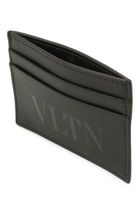 Мужской кожаный футляр для кредитных карт VALENTINO черного цвета, арт. WY2P0448/VNA   Фото 3