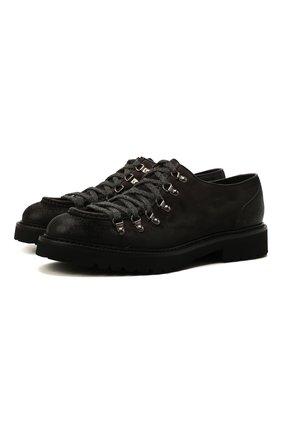 Мужские замшевые ботинки DOUCAL'S темно-коричневого цвета, арт. DU2736PHILUF205NN03 | Фото 1 (Подошва: Плоская; Материал внутренний: Натуральная кожа; Мужское Кросс-КТ: Ботинки-обувь; Материал внешний: Замша)