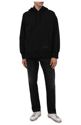 Мужские кожаные кеды superstar GOLDEN GOOSE DELUXE BRAND белого цвета, арт. GMF00102.F002090 | Фото 2 (Материал внутренний: Натуральная кожа; Подошва: Плоская)