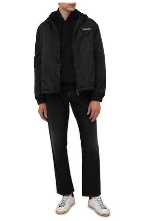 Мужские кожаные кеды superstar GOLDEN GOOSE DELUXE BRAND белого цвета, арт. GMF00102.F002180 | Фото 2 (Материал внутренний: Натуральная кожа, Текстиль; Подошва: Плоская)