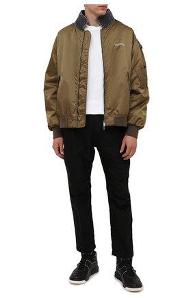 Мужские кожаные кеды one stud VALENTINO черного цвета, арт. WY2S0E63/NWN | Фото 2